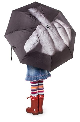 Illustration for article titled Umbrella Gives the Finger to Google's Satellites, Rain