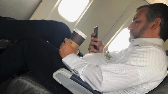 Ted Cruz s Office Says He Was Just Enjoying a Delicious Beverage, Not Violating Mandatory Airline Mask Policy or Anything