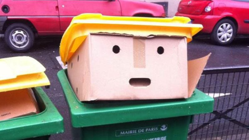 Illustration for article titled Donald Trump is a garbage can