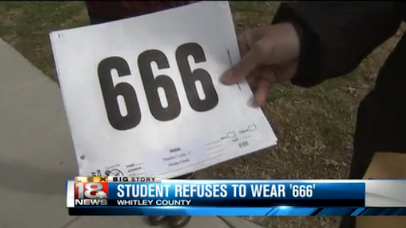 Illustration for article titled Christian Teen Would Rather Drop Out of Big Race Than Wear Number 666