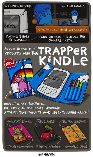 Illustration for article titled I Want the Trapper Kindle to Be a Real Product So Badly