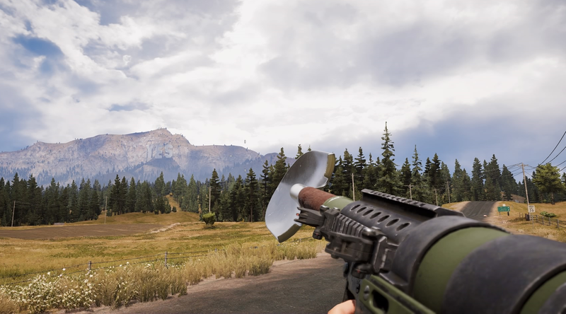 Illustration for article titled Far Cry 5 Has A Shovel Gun Now, Because Of Course
