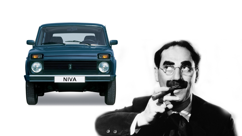 Illustration for article titled Quick Question: Is the Lada Niva the Car That Most Resembles Groucho Marx?