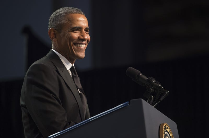 President Barack Obama addresses the Congressional Black Caucus Foundation's 45th Annual Legislative Conference in Washington, D.C., on Sept. 19, 2015.JIM WATSON/AFP/Getty Images
