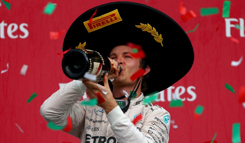 Illustration for article titled Hamilton Might Have Won The F1 Championship, But Rosberg Won The Better Hat
