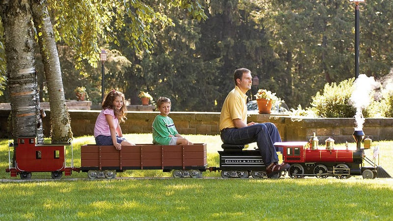 Backyard Railroad Locomotives you can finally buy yourself the tiny rideable train you always wanted