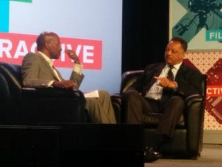 Van Jones and Jesse Jackson speak at South by Southwest in Austin, Texas.Julie Walker/The Root