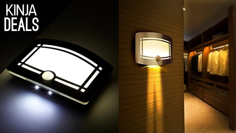 Illustration for article titled This Stick-Anywhere LED Night Light Doesn't Look Like Dorm Furniture