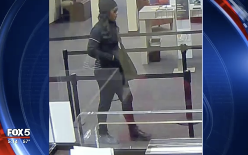 Authorities say this is an image of the so-called Freedom Fighter Bandit (Fox 5 screenshot)