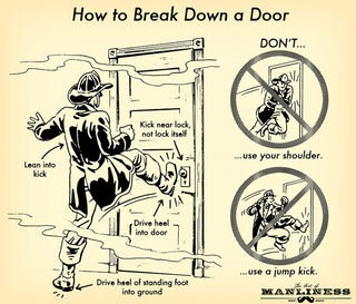Illustration for article titled Learn How to Break Down a Door (Without Hurting Yourself)