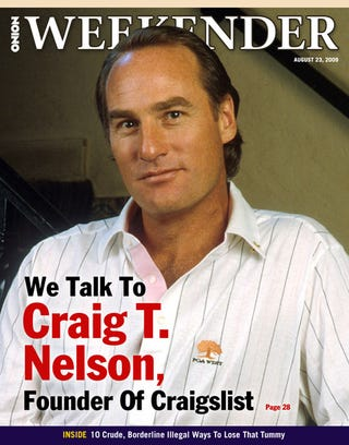 Illustration for article titled We Talk To Craig T. Nelson, Founder Of Craigslist