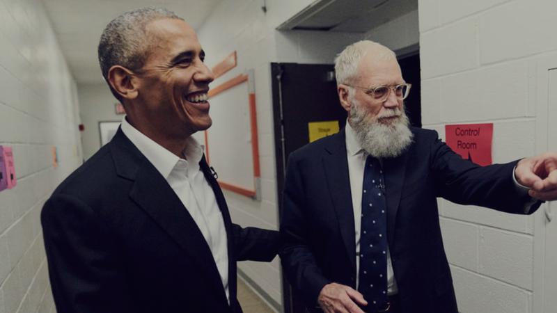 Barack Obama and David Letterman (Netflix screenshot)