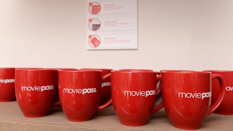 Illustration for article titled MoviePass wipes away flop sweat, limits users to 3 movies a month