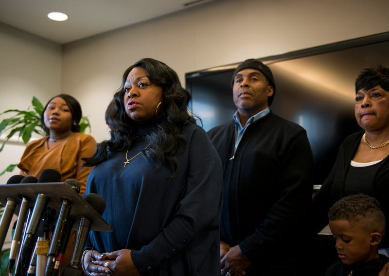 Valerie Castile, mother of Philando Castile, speaks during a press conference Nov. 16, 2016, in Minneapolis. Ramsey County Attorney John Choi filed charges Nov. 16 against St. Anthony, Minn., Police Officer Jeronimo Yanez, who shot and killed Philando Castile during a traffic stop in July 2016. Stephen Maturen/Getty Images