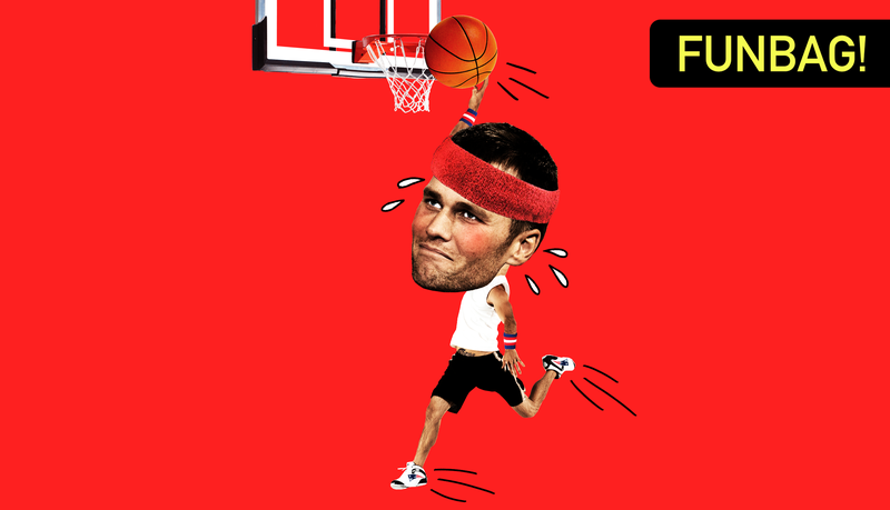 Illustration for article titled Can Tom Brady Dunk?