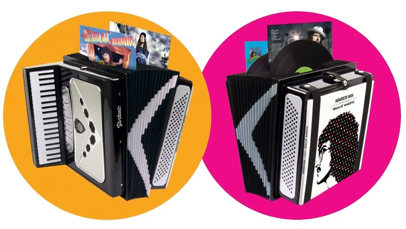 """Illustration for article titled The Complete Works of """"Weird Al"""" Yankovic Will Come in a Delightful Fake Accordion"""