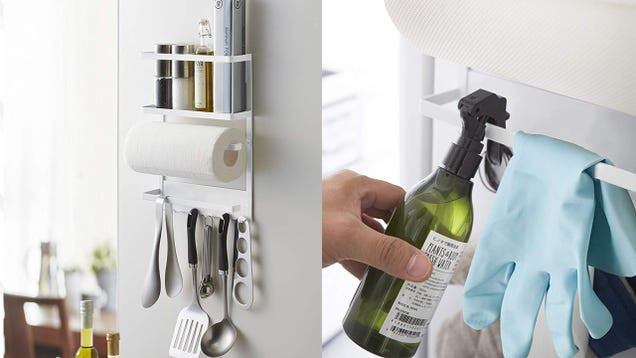 Reorganize Your Entire Kitchen With This $30 YAMAZAKI Magnetic Rack