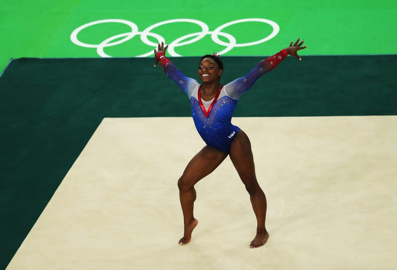 Simone Biles competes during the Women's Floor Final at Rio Olympic Arena on Aug. 16, 2016, in Rio de Janeiro.Ian MacNicol/Getty Images