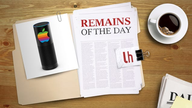 Remains of the Day: Apple Rumored to Be Developing an Amazon Echo-Like Device