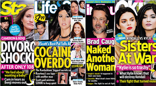 Illustration for article titled This Week In Tabloids: Brad Got Naked With Someone Who Wasn't Angie