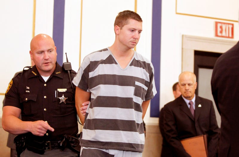 Former University of Cincinnati Police Officer Ray Tensing enters  Hamilton County Common Pleas Court to be arraigned on murder charges  July 30, 2014, in Cincinnati. Mark Lyons/Getty Images