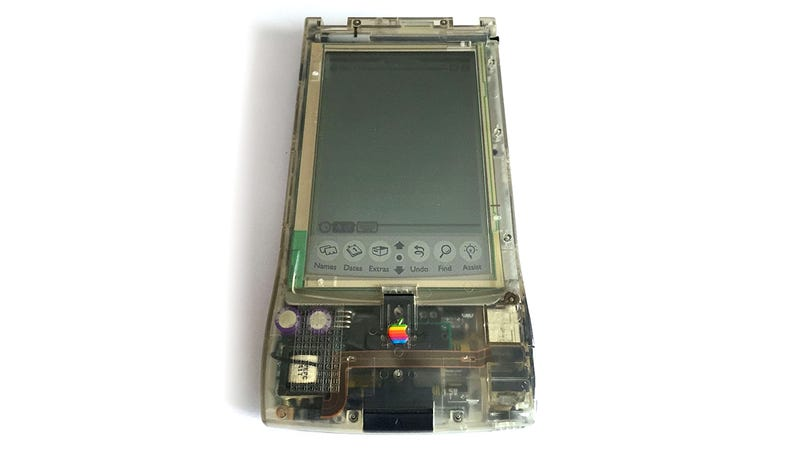 Illustration for article titled Forget a Clear Backed Smartphone, I Want This Clear Plastic Apple Newton