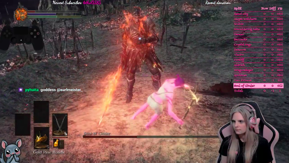 Dark Souls Streamer Did A No-Hit Run To Inspire Other Women