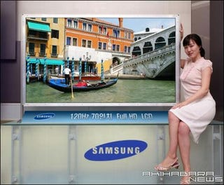 Illustration for article titled Samsung to Ship 70-Inch 1080p LCD Early Next Year