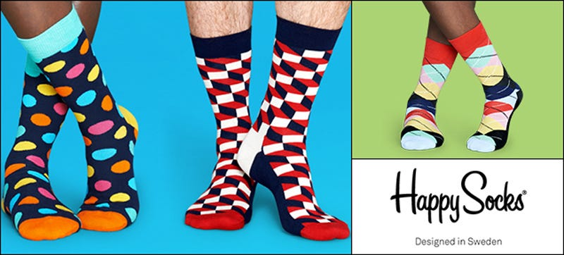 Illustration for article titled Happy Socks: 30% Off The Fun Fashion Socks ($8)
