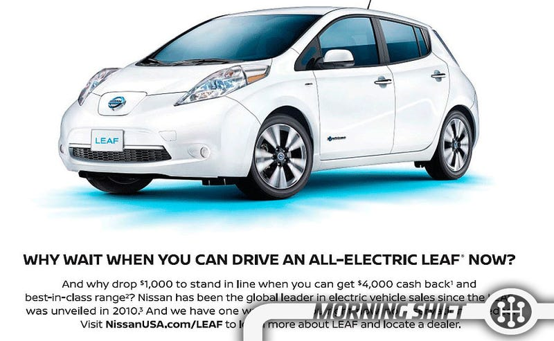 Illustration for article titled Nissan Attempts To Rip On Tesla With Latest Leaf Ad