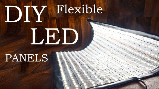 make some diy flexible led panels for your photography lighting kit. Black Bedroom Furniture Sets. Home Design Ideas