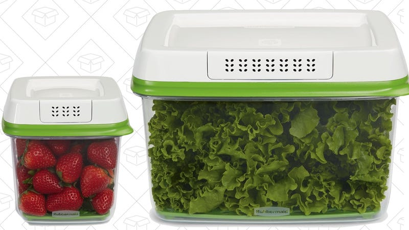 RubberMaid FreshWorks Medium Container, $9 | Large Container, $11