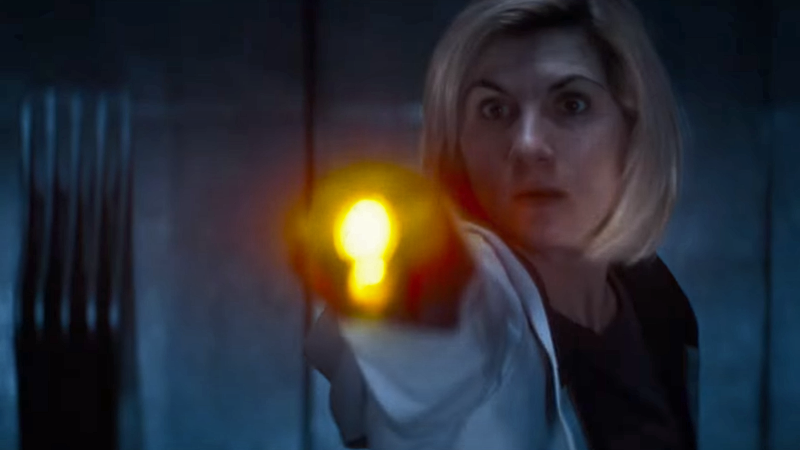 The Doctor sonics into action in Doctor Who's latest trailer.