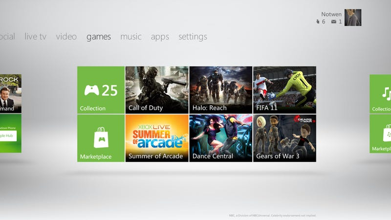 Illustration for article titled New Xbox Dashboard Launches On December 6