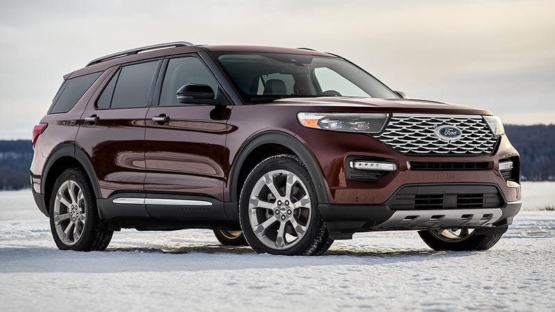 Illustration for article titled 2020 Ford Explorer Gets Giant Touchscreen, ST Version, Is Gloriously Rear-Wheel Drive