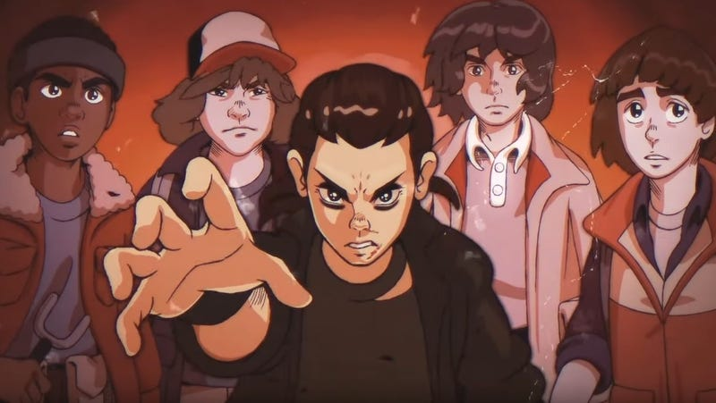Illustration for article titled Here's Stranger Things, but it's like an '80s anime, sort of