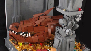 Illustration for article titled Even As Just A Head, This Lego Smaug Is Spectacular