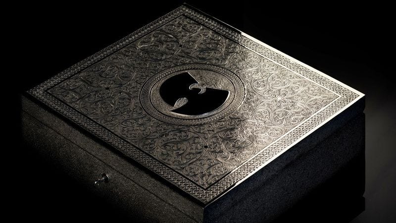 Illustration for article titled You can buy Wu-Tang Clan's one-of-a-kind album in a mere 88 years