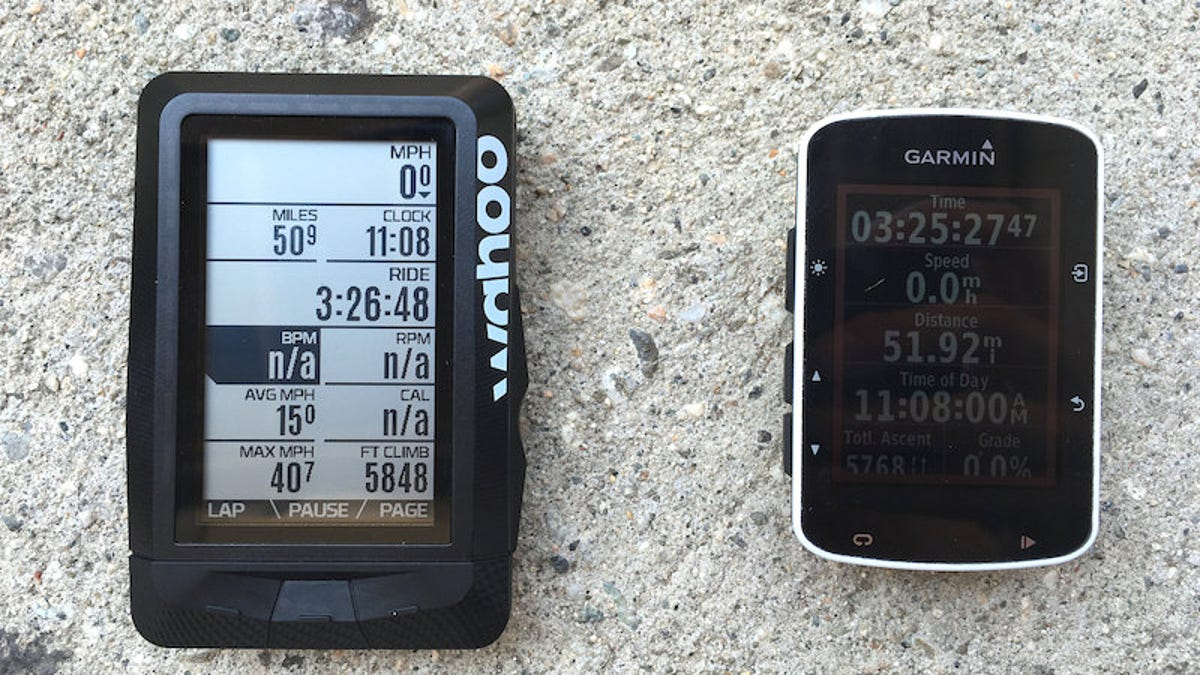 Cycling Computer Showdown: Garmin Edge 520 vs  Wahoo Elemnt