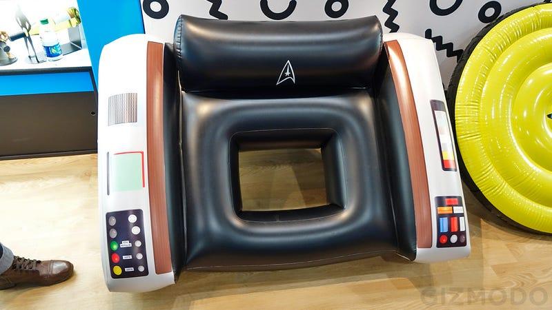 Star Trek Captains Chair Pool Float Set Your Phasers To Fun In – Star Trek Captain Chair