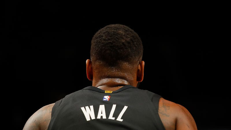 Illustration for article titled John Wall Slipped On His Infected Heel That Had Bone Spurs And His Achilles Tendon Exploded And His Supermax Begins Next Year