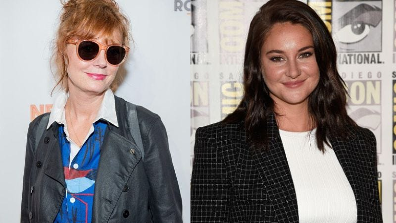 Susan Sarandon and Shailene Woodley (Photos: Roy Rochlin/Getty Images; Frazer Harrison/Getty Images)