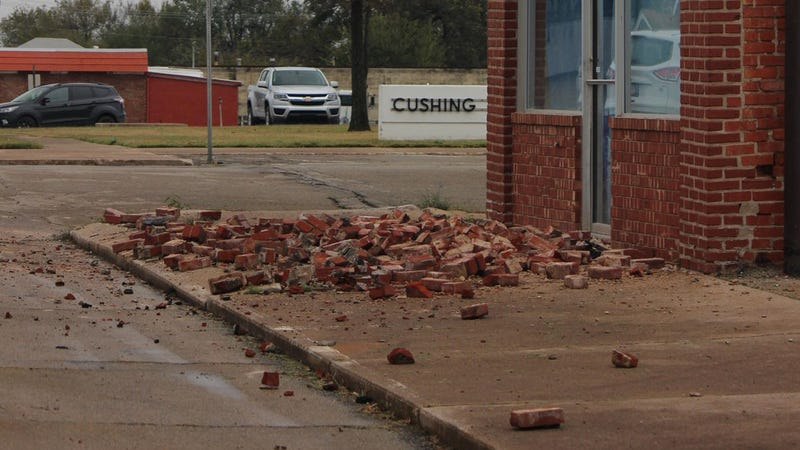 A human-caused earthquake measuring 5.0 caused damage to buildings in Cushing, Oklahoma  on November 6, 2016.(Image: Dolan Paris/USGS)