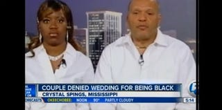 Charles and Te'Andrea Wilson, whose church refused to marry them because they are black (WPTV)