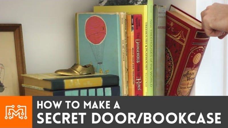 【本棚の秘密のドアをDIY】本を動かすとドアが開く作り方動画集