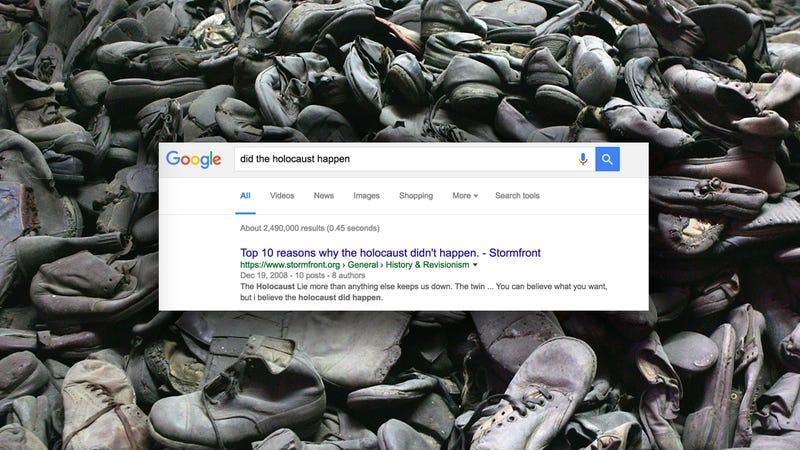Shoes taken from Jewish prisoners at Auschwitz via Getty | Screenshot via Google