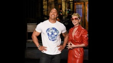 03833088 Dwayne Johnson joins the Five-Timers Club, as Saturday Night Live ...