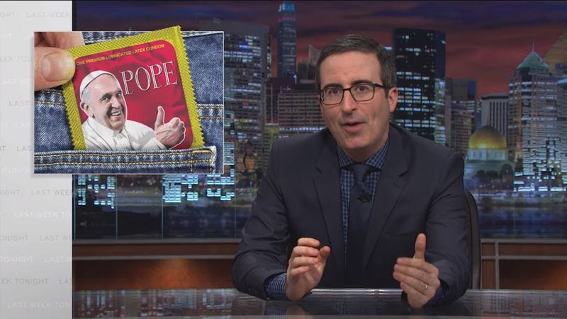 Illustration for article titled John Oliver gallantly rescues some funny, unused graphics from obscurity