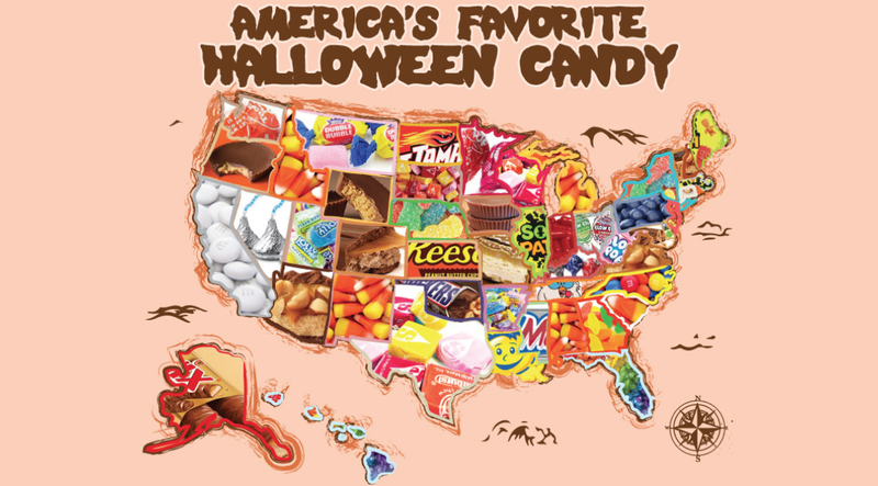 Illustration for article titled The Most Popular Halloween Candy Sold Online In Every State