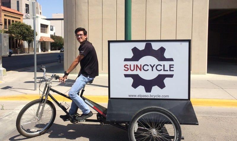 El Paso's bikeshare network could soon cross the U.S.-Mexico border. Courtesy El Paso SunCycle